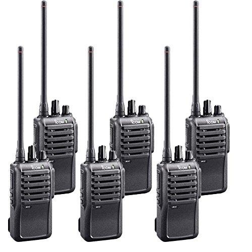 - 6 Pack of Icom IC-F4001 UHF PREPROGRAMMED Radios