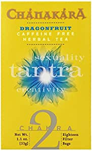 Stash Tea Dragonfruit Chanakara Herbal Tea for Chakra 2, 18 Count Tea Bags in Foil (Pack of 6)