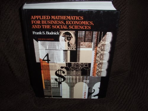 Applied Mathematics for the Business, Economics and Social Sciences