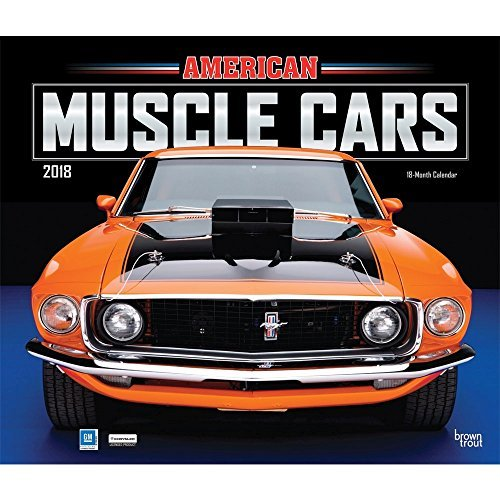 American Muscle Cars 2018 14 x 12 Inch Monthly Deluxe Wall Calendar with Foil Stamped Cover, Racing Ford Chevrolet Chrysler Oldsmobile Pontiac (Multilingual Edition)