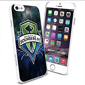 MLS Seattle Sounders FC Cool Logo Apple Smartphone iPhone 6 4.7 inch Case Cover Collector TPU Soft White Hard Cases by runtopwell