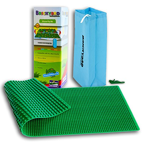 Brickyard Building Blocks Compatible Brick Building Play Mat (Plan City Playmat)