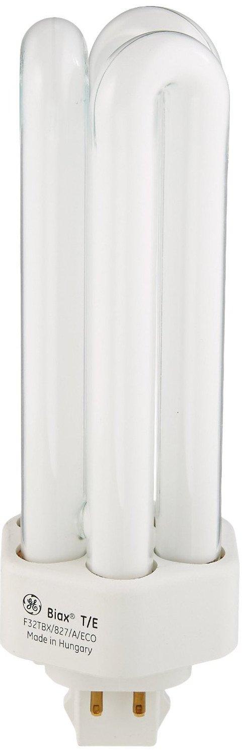 GE 97629 (25-Pack) F32TBX/827/A/ECO 32-Watt Energy Smart Ecolux Triple Tube Compact Fluorescent Light Bulb, 2700K, 2400 Lumens, 82 CRI, T4 Shape, 4-Pin GX24Q-3 Base