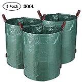 MVPOWER 3 x Garden Waste Bags Rubbish Grass Sack Waterproof 300 Liters