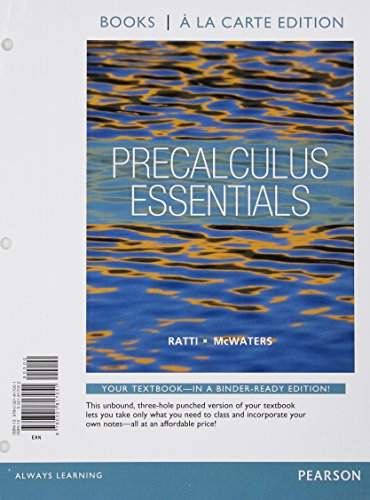 Precalculus Essentials, Books a la Carte Edition