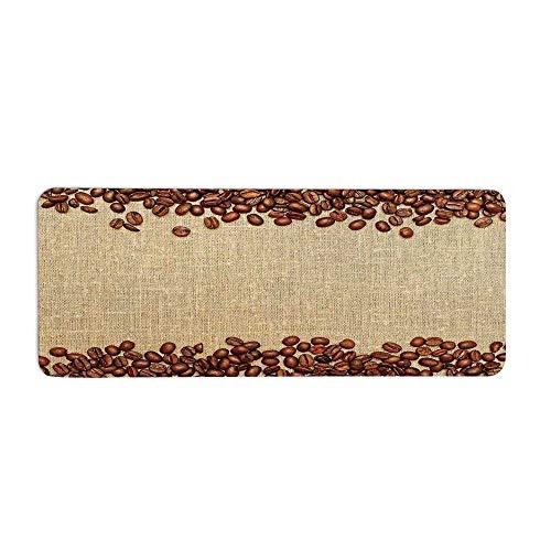 Modern Fashionable Long Door Mat,Coffee Beans Backround Home