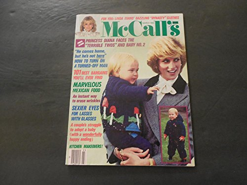 Prince William Diana - McCall's Mar 1984 Diana And Prince William (When He Still Had Hair)