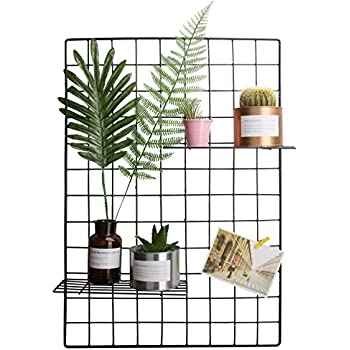 Simmer Stone Wall Art Display Wire Grid PanelWall Photo Hanging Decor Industry Style