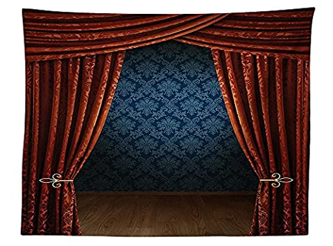 vipsung Victorian Decor Tablecloth Grand Opening Showroom with Retro Pattern Wall Classic Stage Theatrical Ornate Dining Room Kitchen Rectangular Table (Theatrical Umbrella)