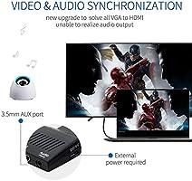 Winnes HDMI a VGA Cable Adaptador convertidor 1080P HDTV con Audio ...