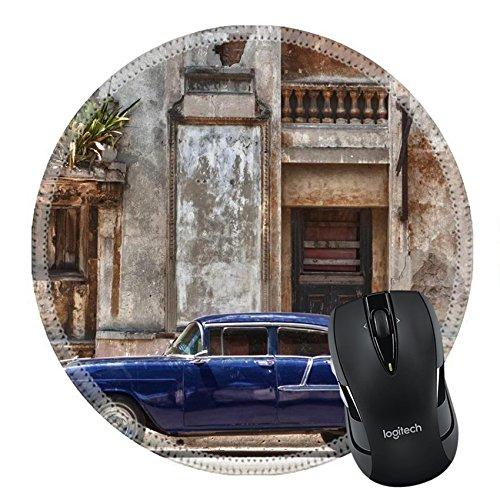 MSD Natural Rubber Mousepad Round Mouse Pad 11582390 vintage car in Havana - Colour Havan