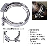 """EVIL ENERGY 3.0"""" Quick Release V Band Exhaust Clamp Stainless Steel"""