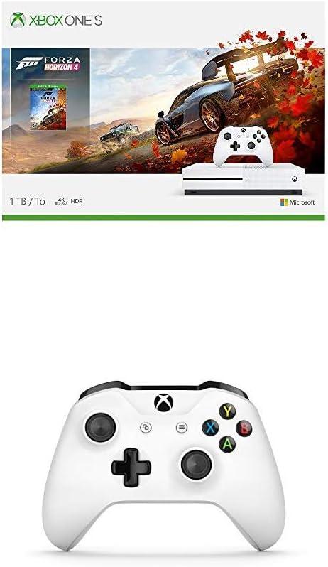 Microsoft Xbox One S - Consola 1 TB con Forza Horizon 4 + Mando Inalámbrico, Blanco (PC, Xbox One S): Amazon.es: Videojuegos