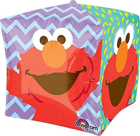 Anagram International Sesame Street Elmo Cubez Balloon Pack, 15