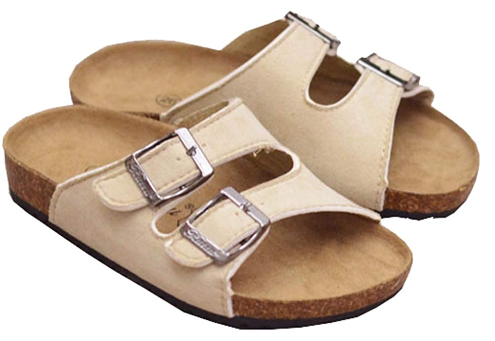 AGOWOO Kids Boys Girls Mules Slides Soft Wood Beach Sandals