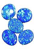 SUPERFINE 4.35Ct BLUE FIRE OPAL OVAL CABOCHON LOOSE GEMS 5PEC LOT