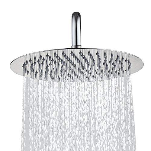 h Stainless Steel Shower Head Rain Style Shower Head Brushed Nickel ()