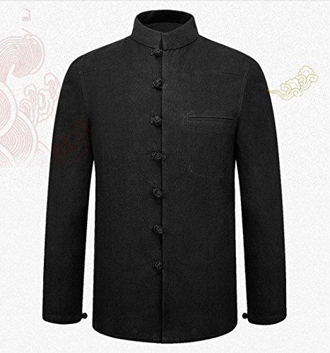 Tang Suit National Costume Retro Jackets Coats Men's dress Full dress Gentleman by BAOLUO-Tang Suit (Image #4)