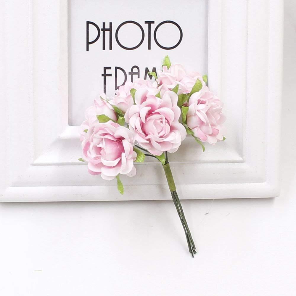 PPL21 安価な造花 バラ シルクフラワー DIY 花輪 素材 花嫁 手首 花飾り ウェディングフラワーデコレーション 6個 B07H3YZ4DK 11