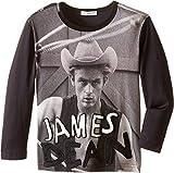 Dolce & Gabbana Kids Boys' City James Dean T-Shirt (Toddler), Navy/Black Print, 6 (Little Kids)