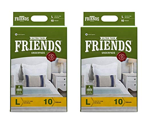 Friends Classic Underpads, Large 60 X 90 cm, Super Absorbent Polymer & Soft Surface, 20s Value Pack