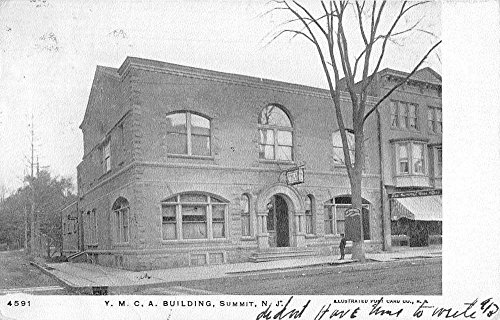 Summit New Jersey YMCA Building Street View Antique Postcard - Building New Ymca