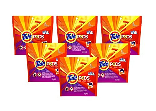 Price comparison product image Tide Pods Laundry Detergent Spring Meadow Scent 5 Count - Pack of 6 (30 Count Total)