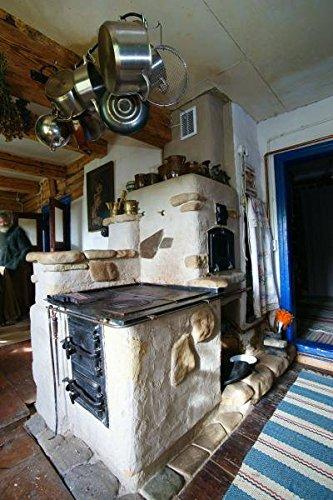 Forno pizza forno porta in legno Forno pietra forno griglia in ghisa 490/X 280