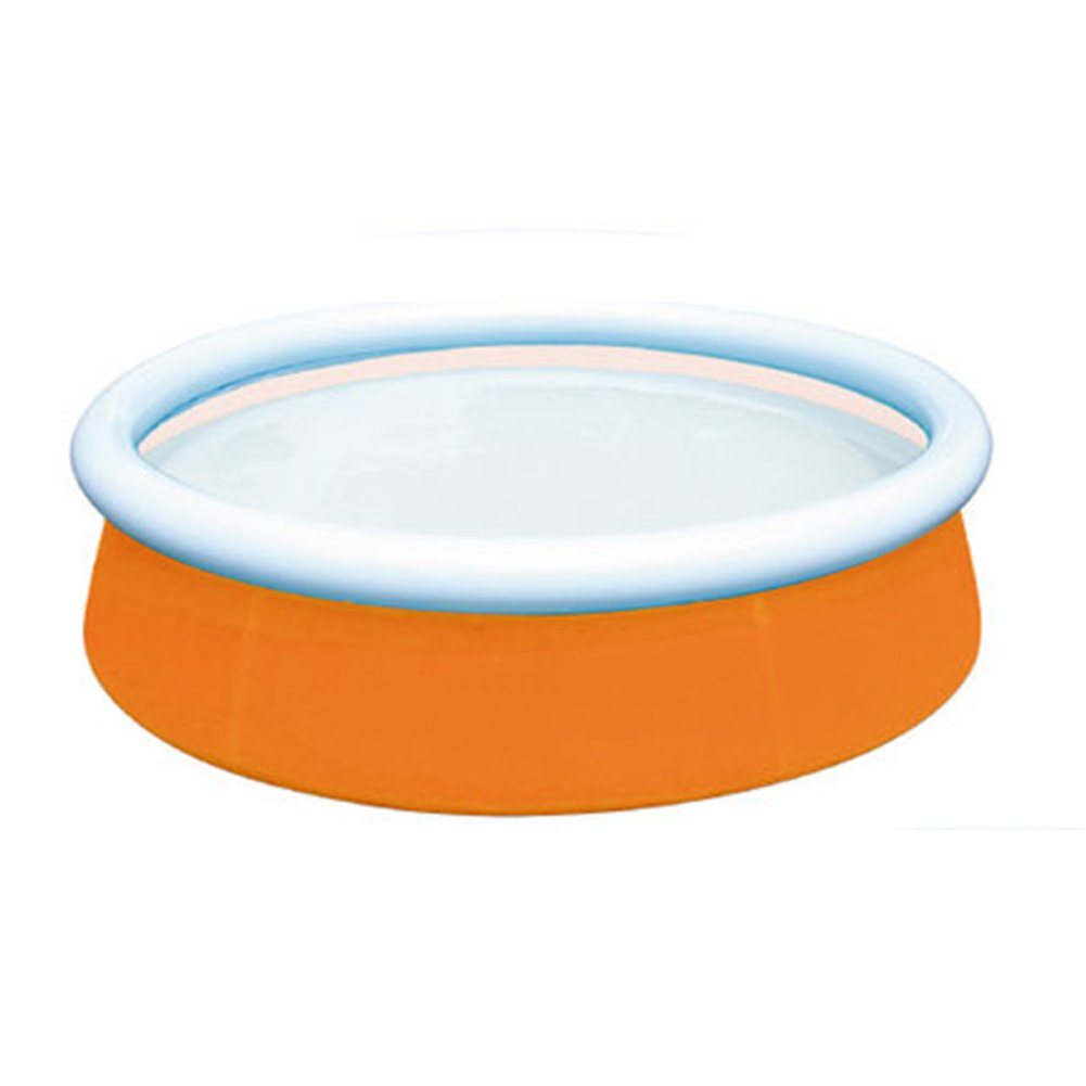 DMGF Inflatable Easy Set Pool Family Play Pool Summer Water Fun Lounge Padding Pool Above Ground Swim Center With Electric Air Pump 60X15in,Orange