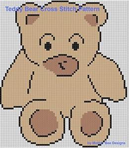 Amazon Com Teddy Bear Cross Stitch Pattern Ebook Mother Bee
