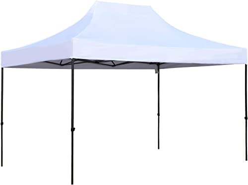 Outsunny 10' x 15' Height Adjustable Pop Up Canopy