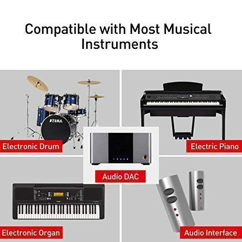 MeloAudio USB 2 0 Cable Type B to Midi Cable OTG Cable Compatible with iOS  Devices to Midi Controller, Electronic Music Instrument, Midi Keyboard,