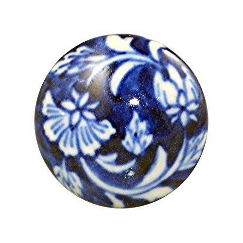 Charleston Knob Company SGA-804 Ceramic Knob 1.5' BLUE AND WHITE