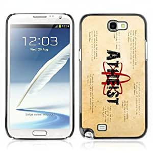 Designer Depo Hard Protection Case for Samsung Galaxy Note 2 N7100 / Atheist