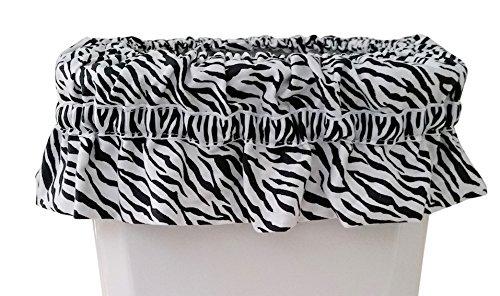 Bathroom Basket Accessory Black Zebra product image