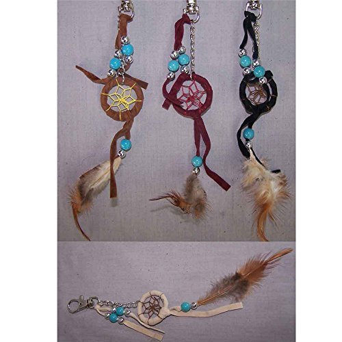Hand Made Tribal Dream Catchers Key Rings Wholesale 6 Pc Pack (NpDc217-6 -