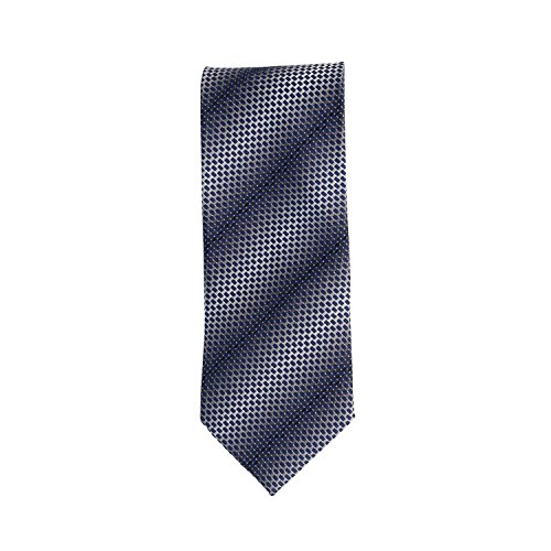 Silk Ties cravate bleu gris à motifs 8,5 cm