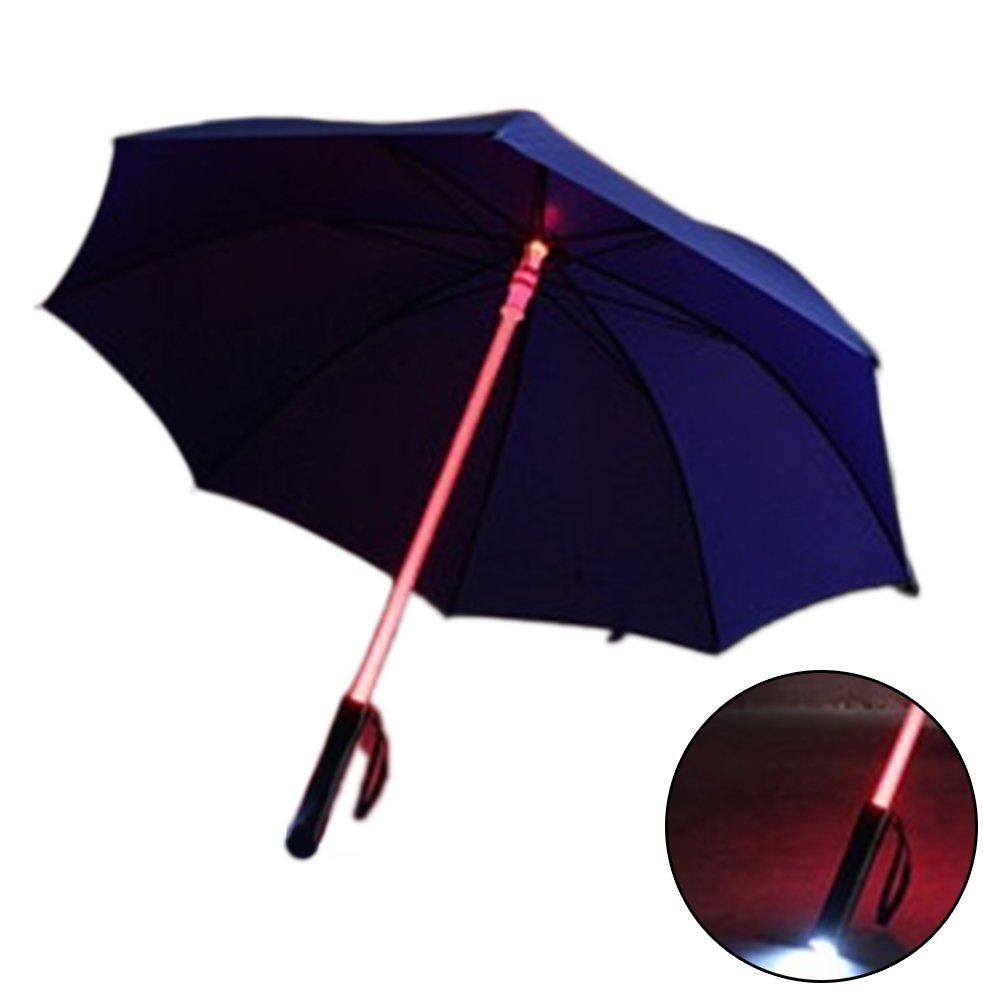 SPRINGWT Paraguas que cambia de color, luz fría y luminosa LED, paraguas brillante, protector de noche, portátil, de viaje, azul: Amazon.es: Deportes y aire ...