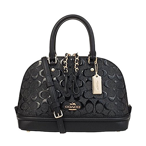 COACH Mini Sierra Satchel In Signature Debossed Patent Leather, F55450 by Coach