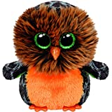 Ty - Midnight, búho de Peluche, 15 cm, Color Naranja (41126TY)