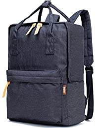 Leaper Extra Lightweight Casual School Backpack Cool Travel Daypack Laptop Bag (Black)