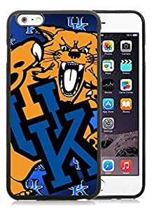 Southeastern Conference SEC Football Kentucky Wildcats Black iPhone 6 Plus 5.5 inch TPU Cellphone Case Luxurious and Newest Design