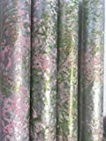 PAINTED PAPERS/Hand-painted/Pink/Green/Champagne Gold Gift Wrap-1 sheet-26''X 60''