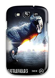 Durable Defender Case For Galaxy S3 Tpu Cover(battlefield 3 Dinosaur Mode)