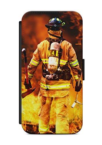iPhone 6 6s Feuer Feuerwehrmann V2 Flip Tasche Hülle Case Cover Schutz Handy
