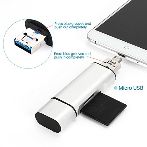 60%OFF 3 in 1 USB Card Reader - USB Type C, USB Type A, TF /