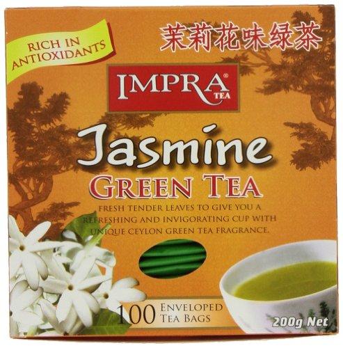 Impra Green Jasmine Tea, 2.0 Gram, 100-Count