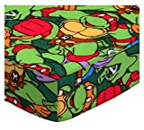 SheetWorld Fitted Portable Mini Crib Sheet - Ninja Turtles Flannel - Made In USA