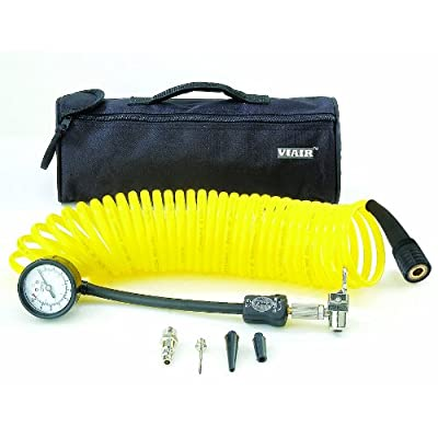 VIAIR 00025 5 in 1 Deflator/Inflator with 25' Extension Coil Hose: Automotive