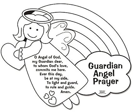 Amazon.com: Color Your Own Guardian Angel Prayers Arts & Crafts ...